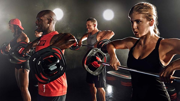 Body pump training from Luxe Fitness gym in Bristol